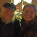 Author George R. R. Martin with Janifer